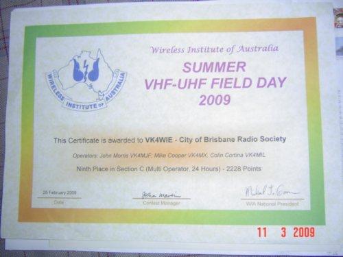 Contest Certificate