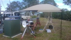 Two operaters waiting for the start gun VK4 NEF and MJF @ the microwave gear