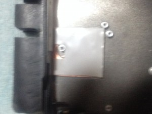 Same rear panel with copper and heat conductive pad